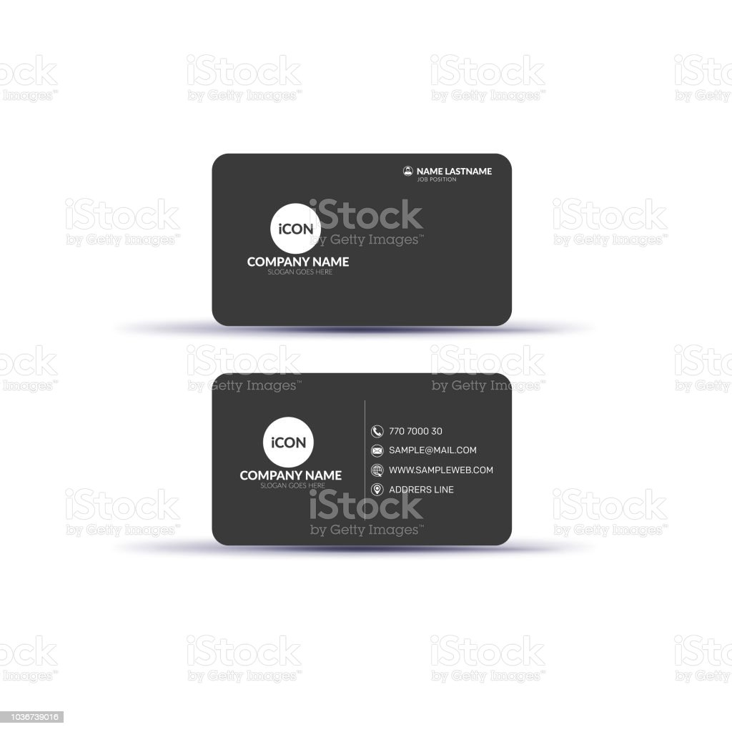 Creative double sided business card template design stock vector art creative double sided business card template design royalty free creative double sided business card template fbccfo