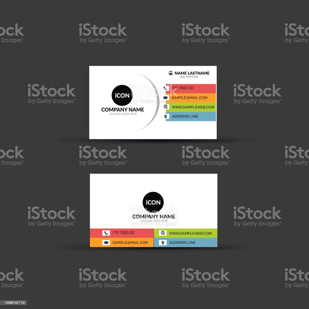Creative Double Sided Business Card Template Design Stock Illustration    Download Image Now