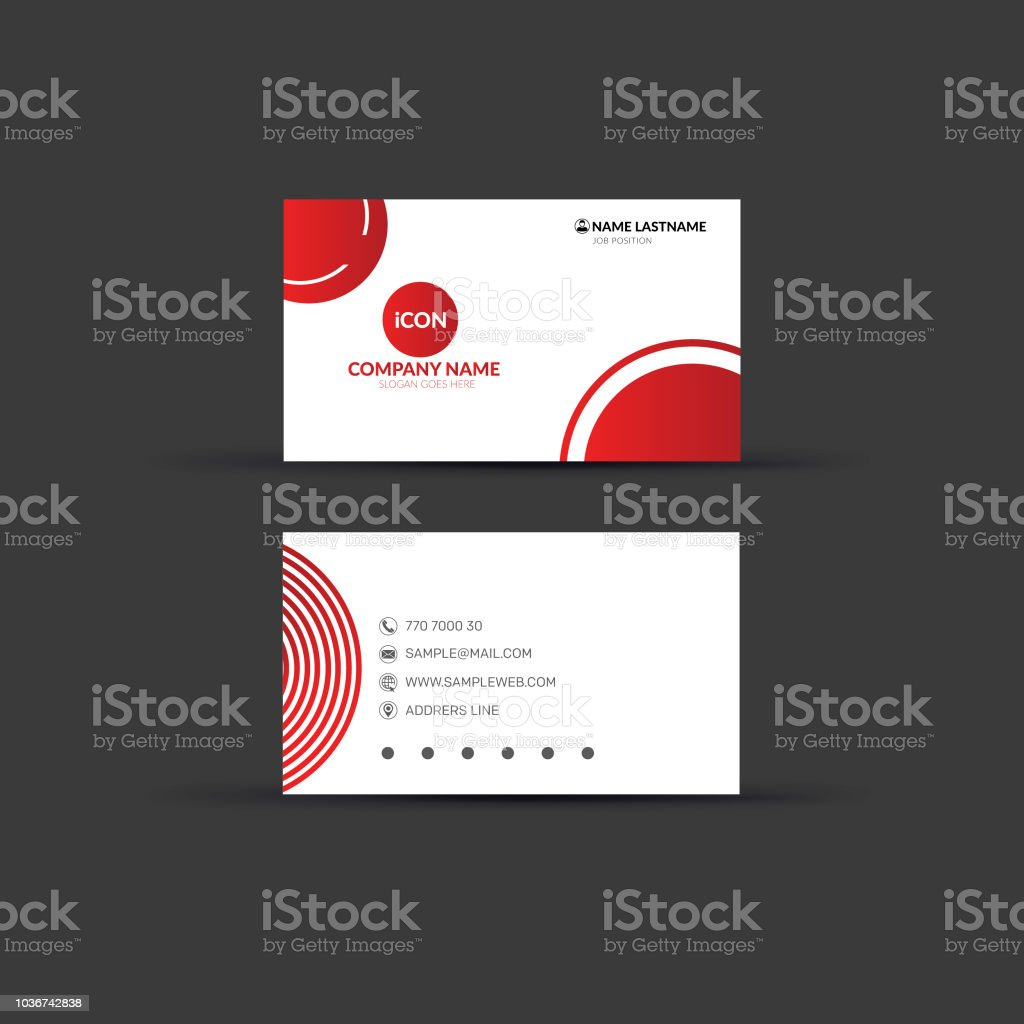 creative double sided business card template design stock vector art