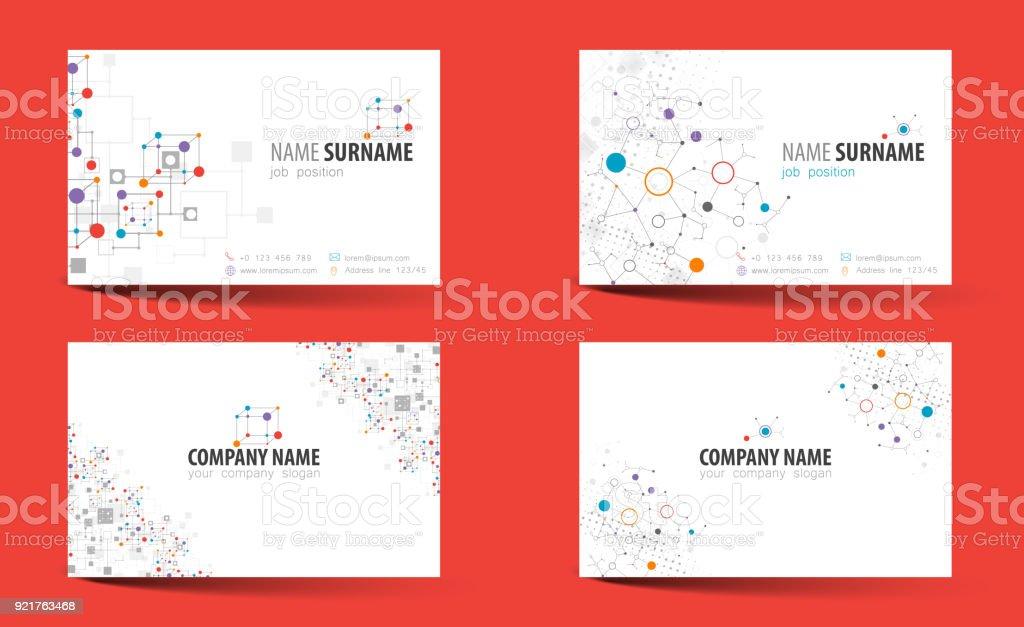 Creative Doublesided Business Card Template Vector Stock Vector Art