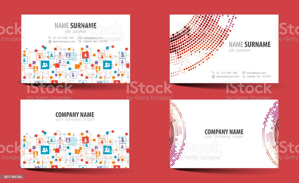 Creative Doublesided Business Card Template Vector Stock Vector Art - Double sided business card template