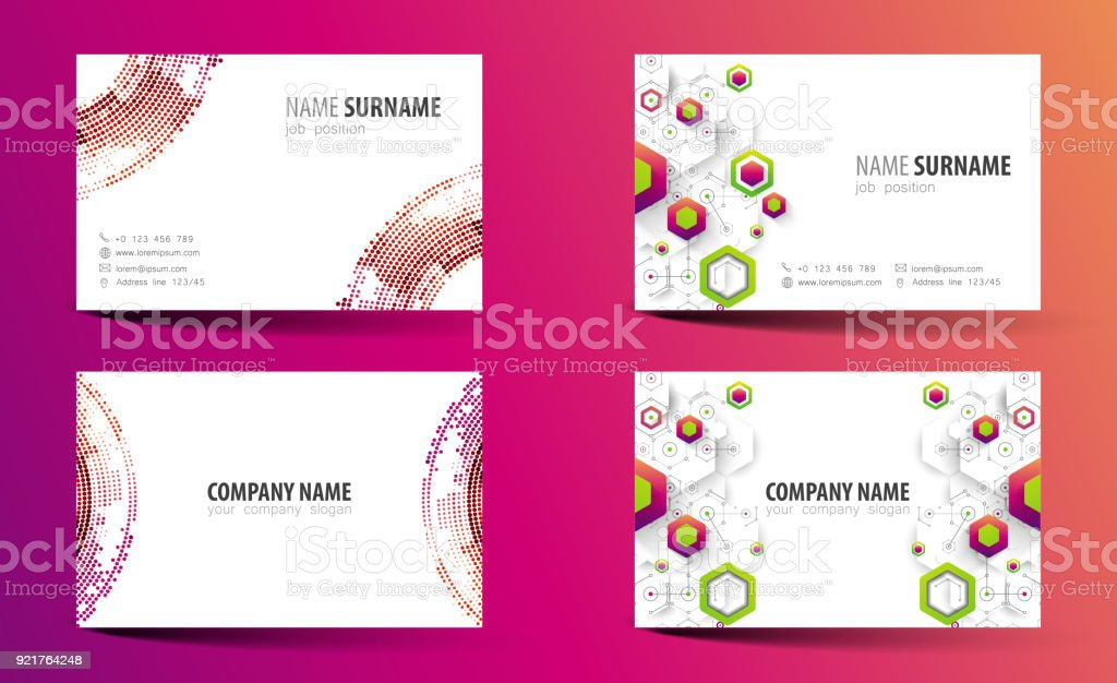 Creative doublesided business card template vector stock vector art creative double sided business card template vector royalty free creative doublesided business card flashek Gallery