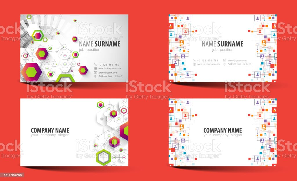 Creative doublesided business card template vector stock vector art creative double sided business card template vector royalty free creative doublesided business card cheaphphosting Gallery
