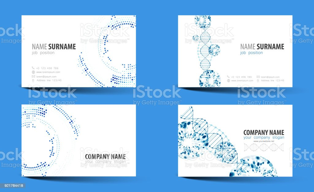 Creative doublesided business card template vector stock vector art creative double sided business card template vector royalty free creative doublesided business card wajeb Choice Image