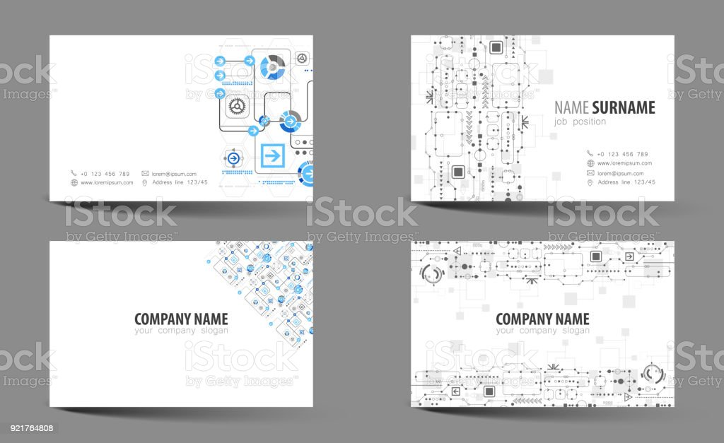 Creative doublesided business card template vector stock vector art creative double sided business card template vector royalty free creative doublesided business card accmission Choice Image
