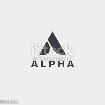 Creative elegant letter A vector emblem. Luxury creative monogram.