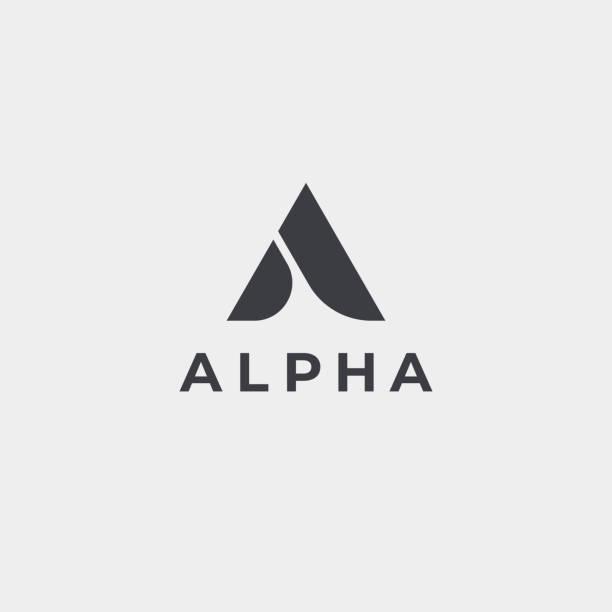 creative elegant letter a vector emblem. luxury creative monogram. - alphabet symbols stock illustrations