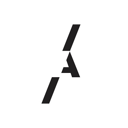 Creative elegant letter A vector emblem