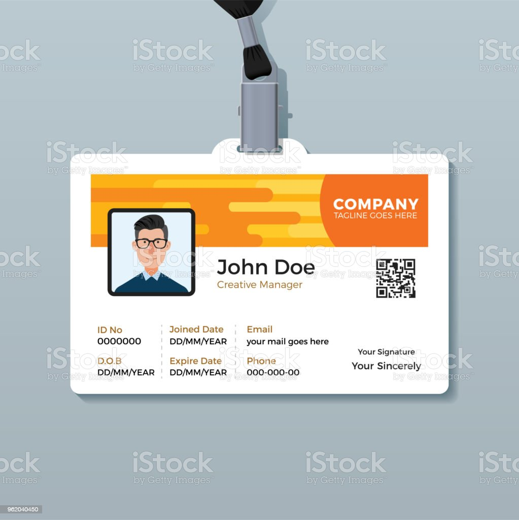 Creative Employee Id Card Design Template Stock Illustration Download Image Now Istock