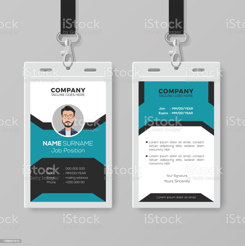 creative employee id card template stock vector art more images of