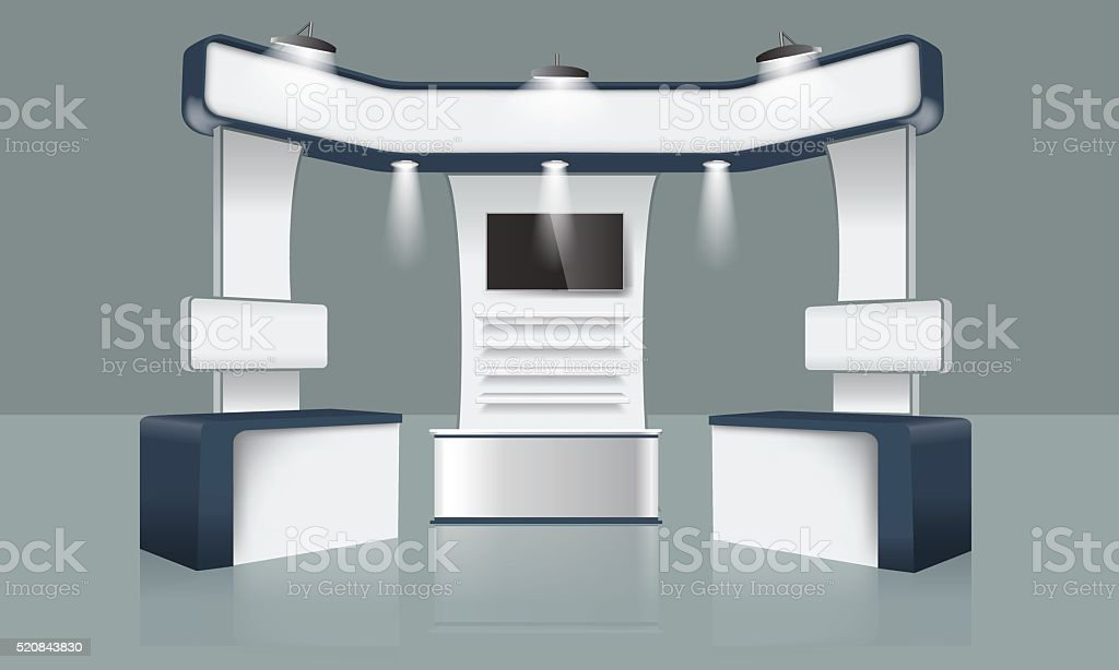 Simple Exhibition Stand Vector : Creative exhibition stand design booth template corporate