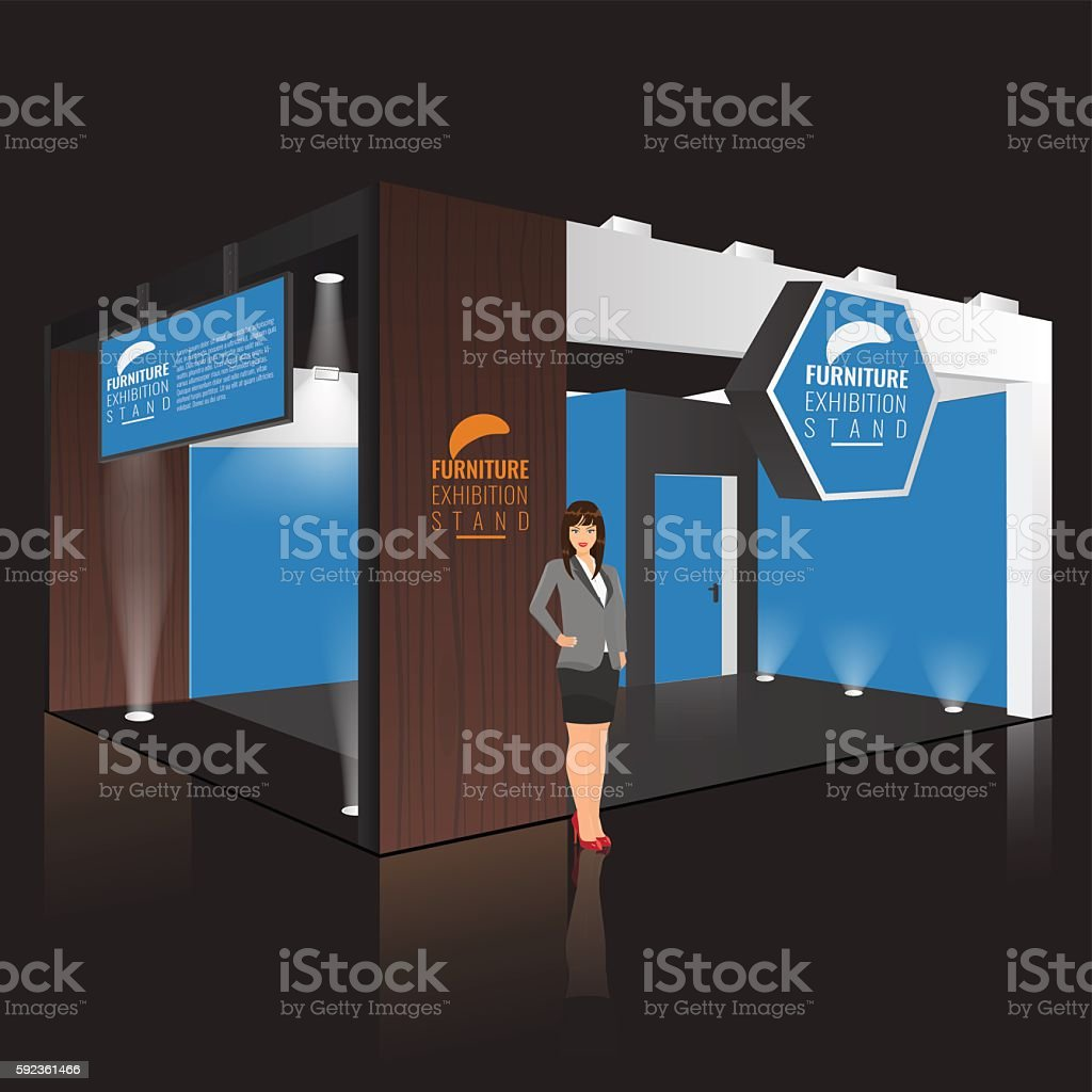 Creative Booth Exhibition : Creative exhibition stand design booth template corporate identity