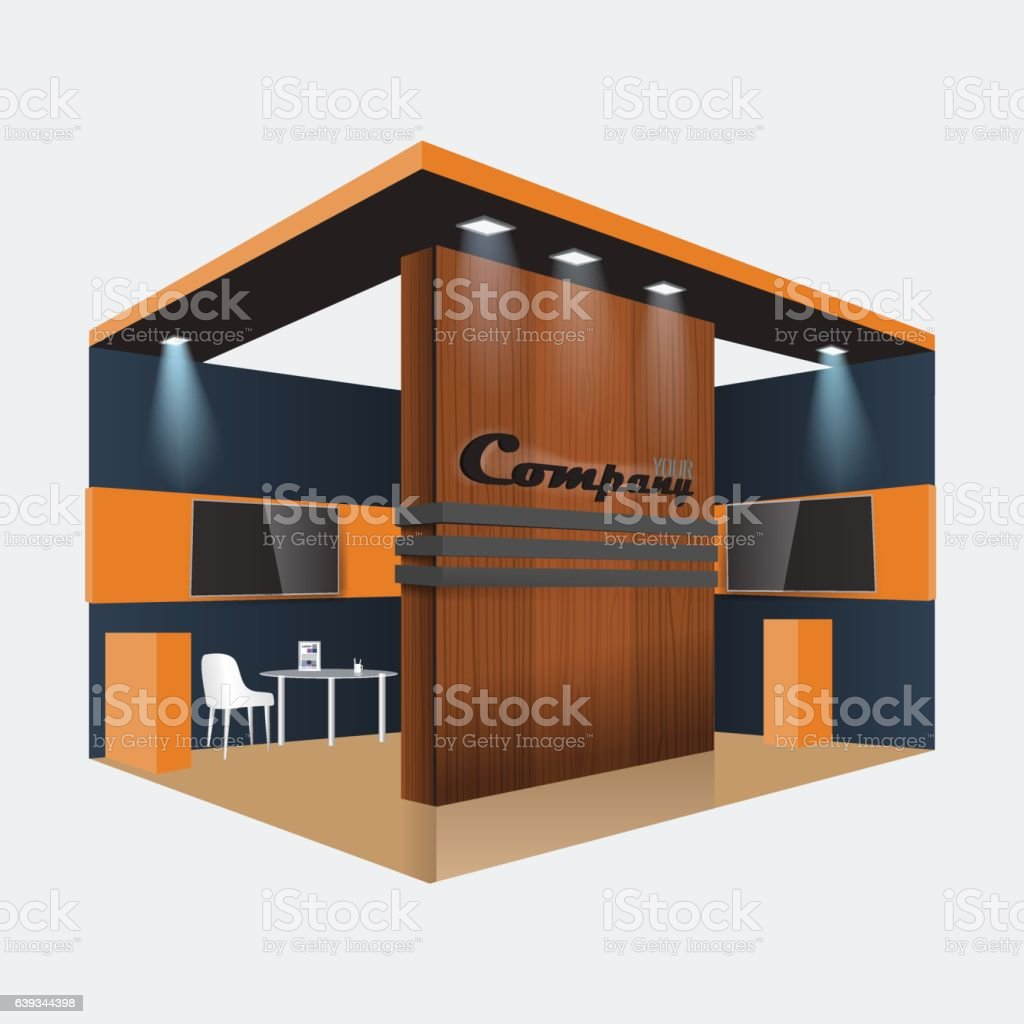 Exhibition Stand Design Vector : Creative exhibition stand design booth template corporate