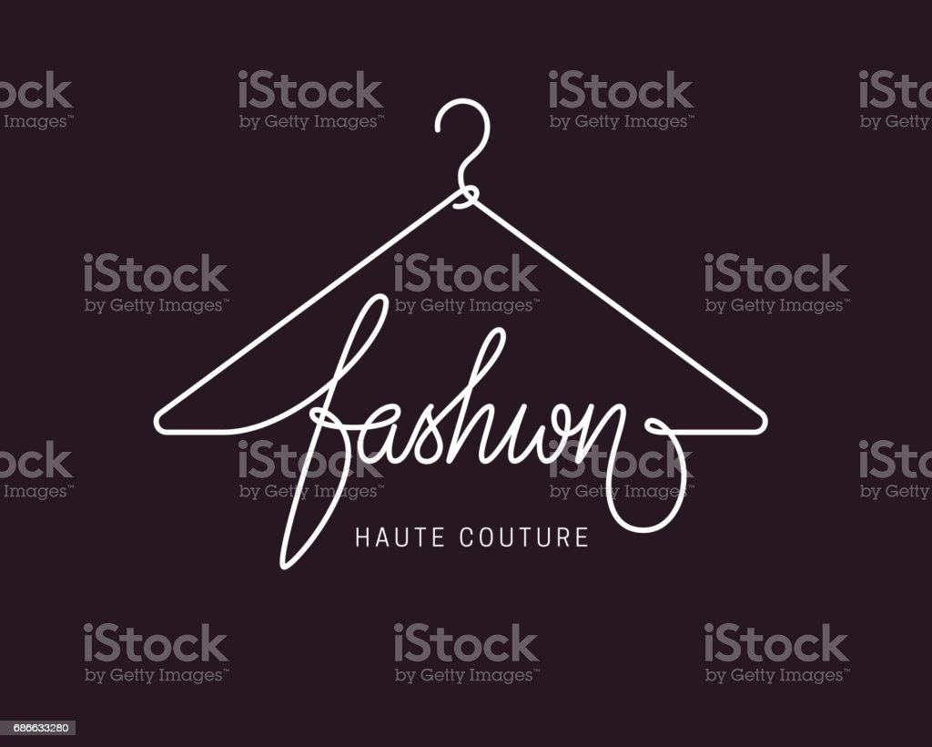 Creative fashion icon design vector art illustration