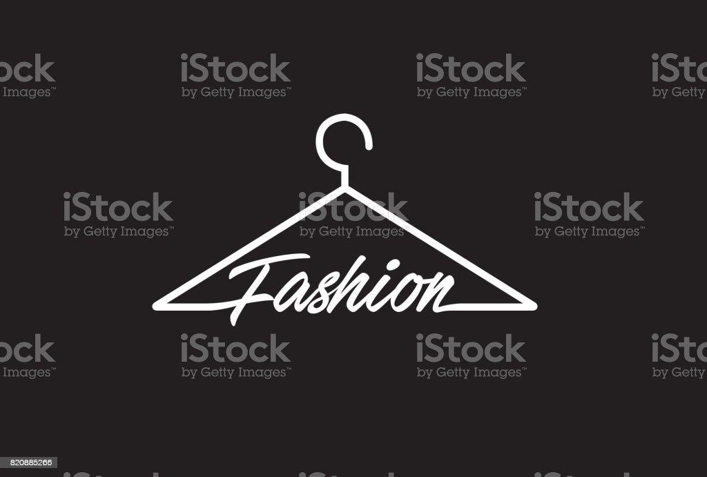 Creative Fashion Letter Text On Coathanger Design Symbol