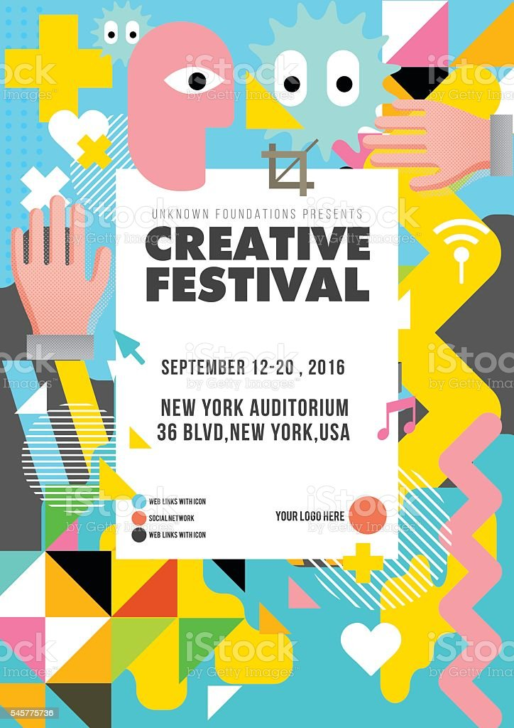 Creative festival design vector art illustration