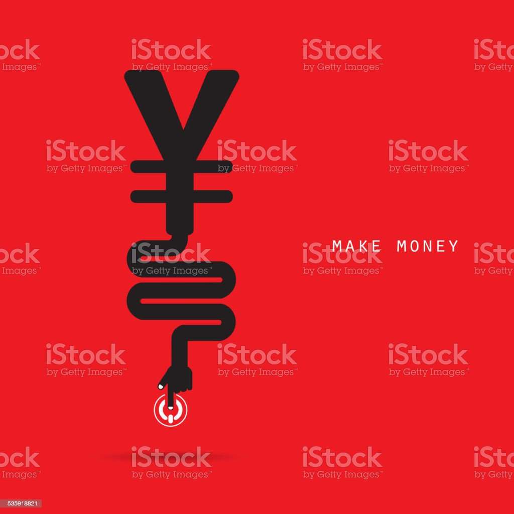 Creative financial and economic logo design template, business and industrial concept. vector art illustration