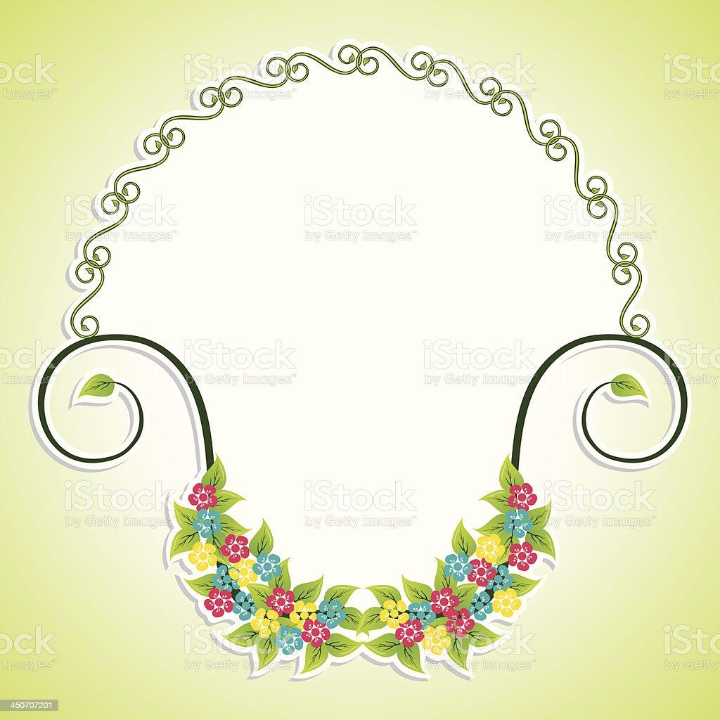 Creative floral label design royalty-free stock vector art