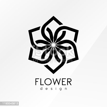 istock Creative flower inspiration design template 1193545813