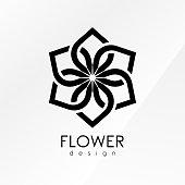 Vector illustration flower inspiration design template on white background.
