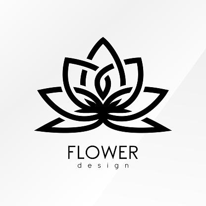 Creative flower inspiration logo design template