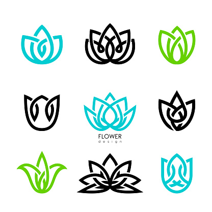 Vector illustration flowers inspiration vector design template on white backgrounds.