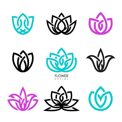 Creative flowers inspiration vector design template