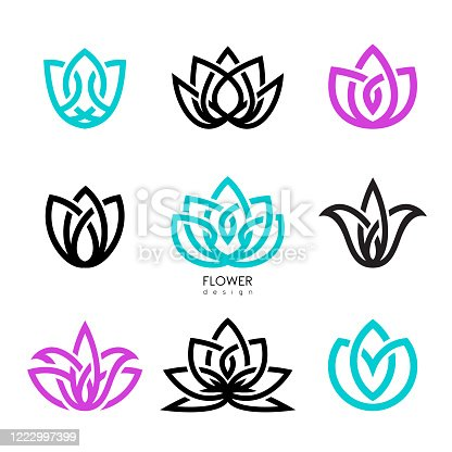 Vector illustration flowers inspiration vector design template on white backgrounds.