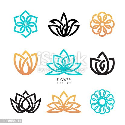 istock Creative flowers inspiration vector design template 1225555214