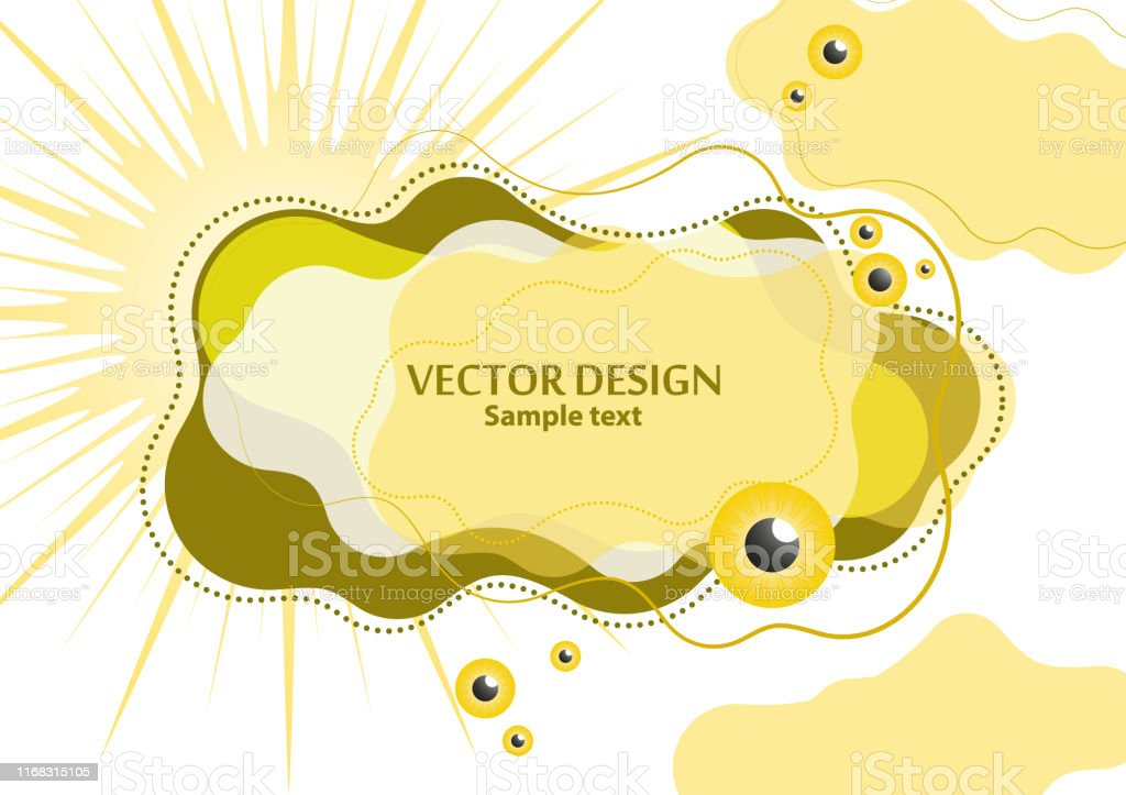 Creative fluid style, dynamic shapes on a white background, sun,...