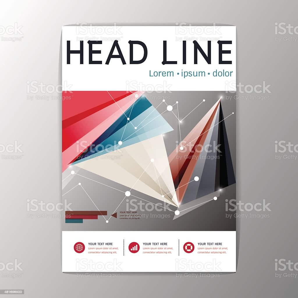 a4 creative flyer brochure design templates layout geometric abstract background vector royalty