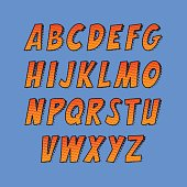 Funny colorful letters for decoration of kids' illustrations, websites, posters, comics and banners.