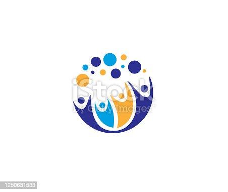 istock Creative Four People icon illustration 1250631533