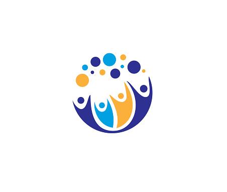 Creative Four People icon illustration
