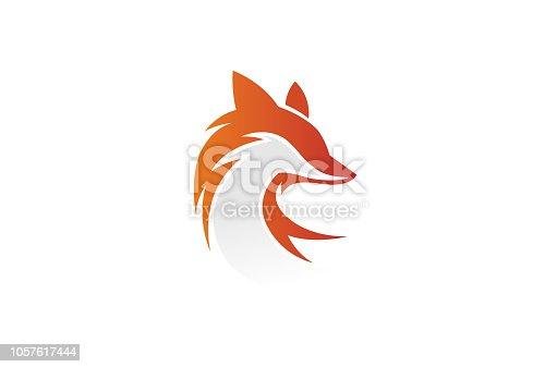 Creative Fox Head Logo Symbol Vector Design Illustration