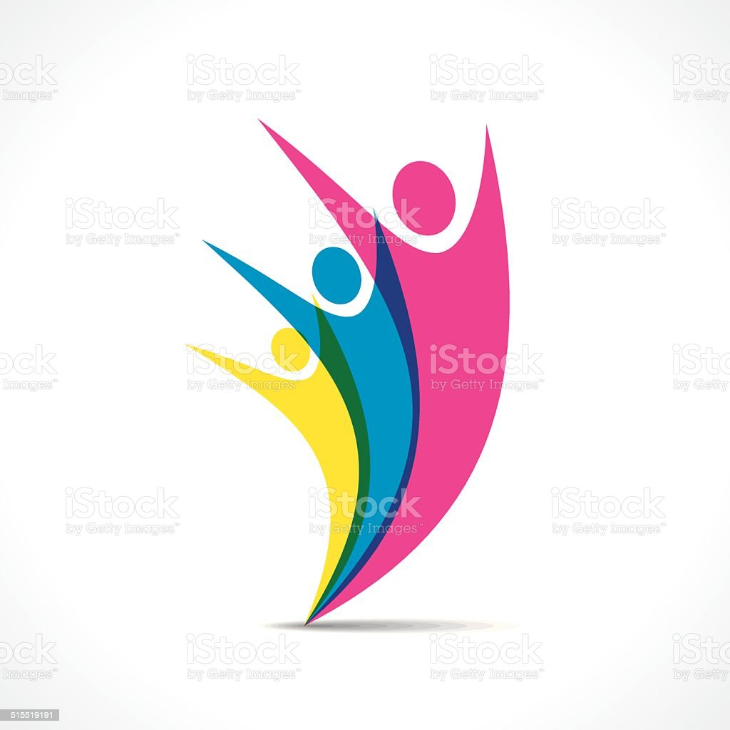 Creative Freedom People Icon Design Vector Stock