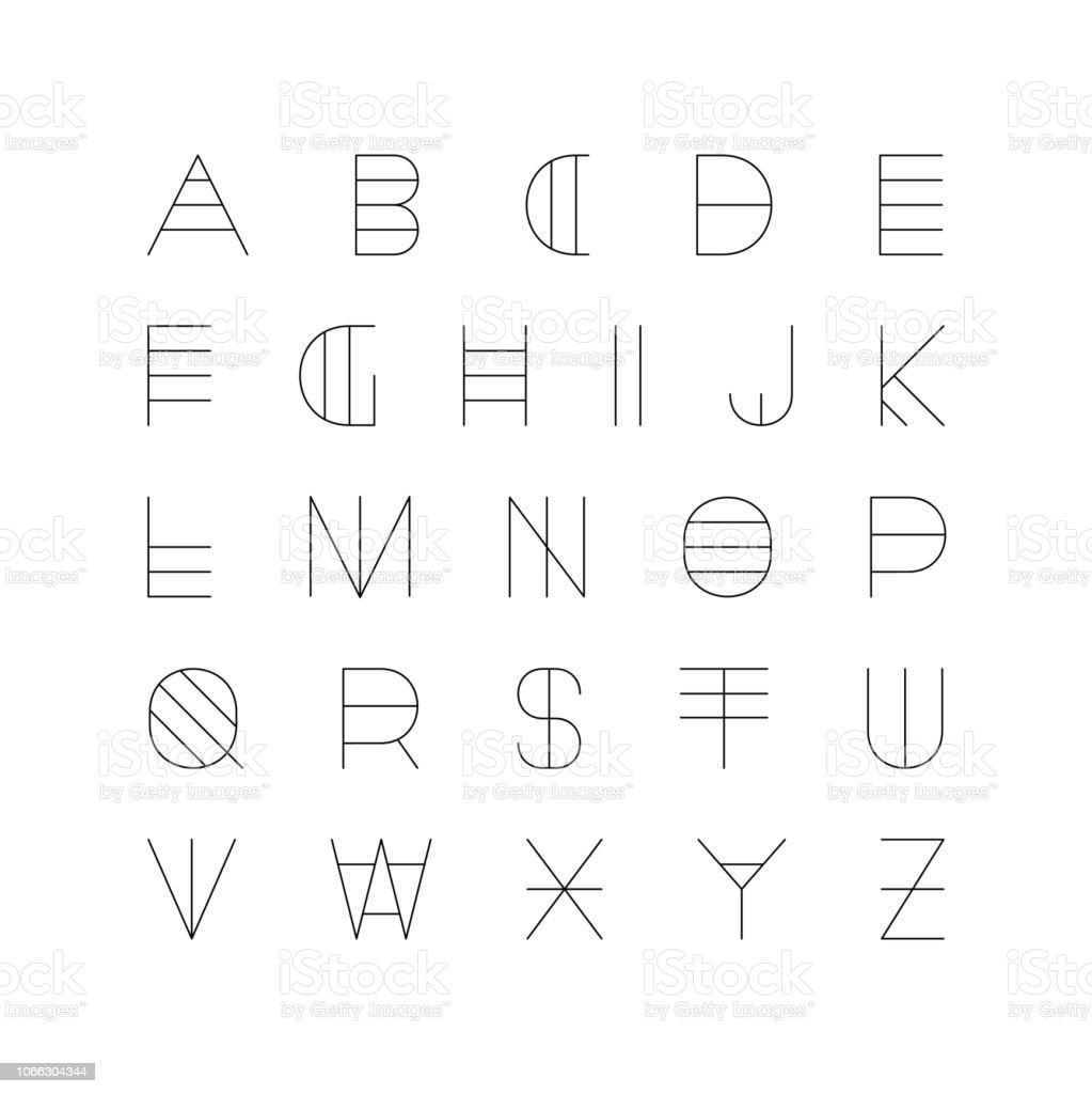 Creative Futuristic Font Modern English Alphabet Unusual Latin Letters  Stock Illustration - Download Image Now