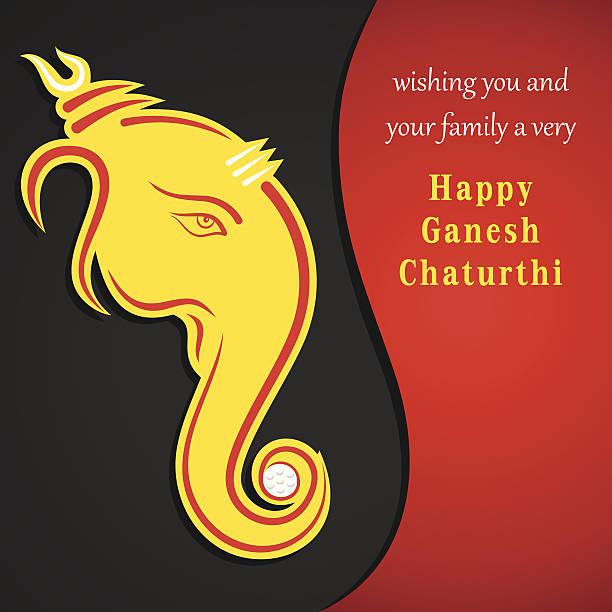 kreative ganesh chaturthi festival grußkarte hintergrund - ganesh stock-grafiken, -clipart, -cartoons und -symbole