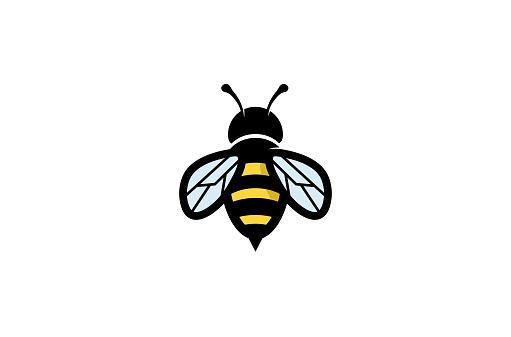 Creative Geometric Bee Logo