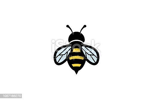 Creative Geometric Bee Logo Symbol Vector Design Illustration