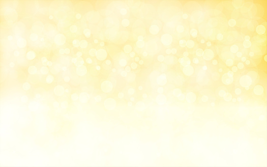 A creative glittery golden background. merry christmas vector Illustration .There are golden bubbly glittery circles in small, medium and large sizes overlapping and merging in the golden background.  Copy space, background. Romantic, soft, hues. New Year celebration background. Sparkles. Sparkly background suitable for advertisements backdrop.