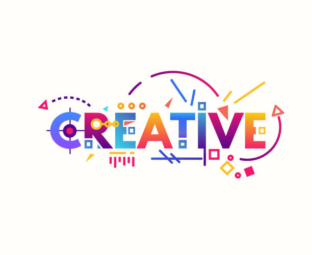 creative gradient letters - creativity stock illustrations