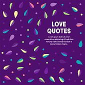 Creative vector illustration with colorful pattern background for love quotes. Graphic design composition, applicable for web banners, placards, posters, flyers etc.