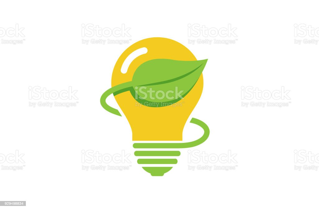 Kreative Grüne Lampe Lampe Energie Symbol Stock Vektor Art und mehr ...