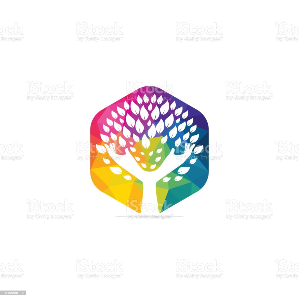Creative Green Hand Tree Logo Design Natural Products Logo Stock Illustration Download Image Now Istock