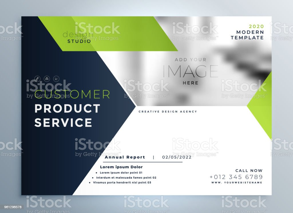 Creative Green Modern Brochure Flyer Template Presentation Stock