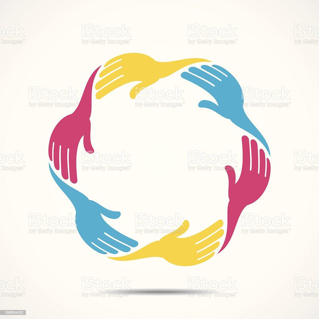 creative hand icon vector art illustration