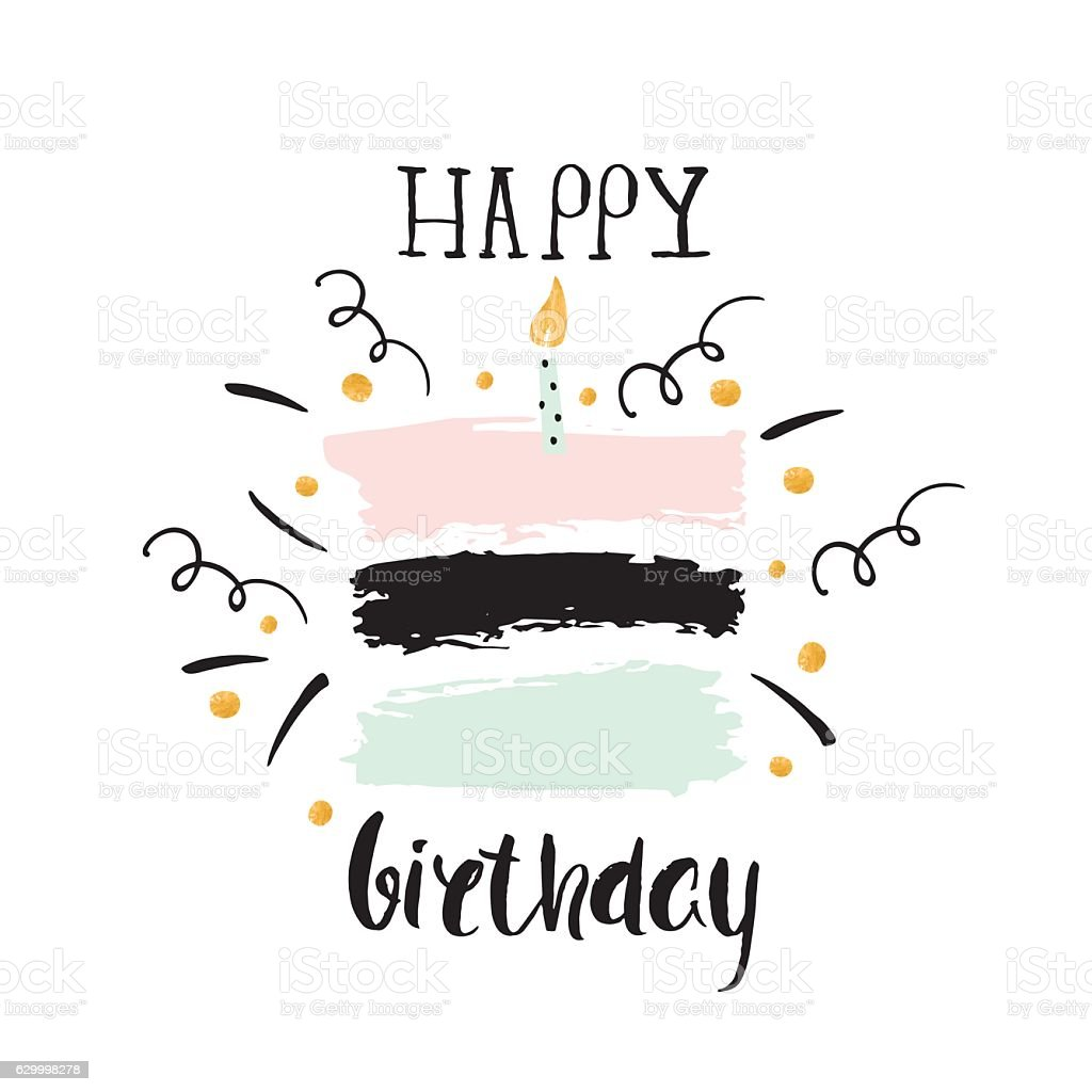 Creative happy birthday greeting background hand drawn ink borders creative happy birthday greeting background hand drawn ink borders royalty free creative happy kristyandbryce Image collections