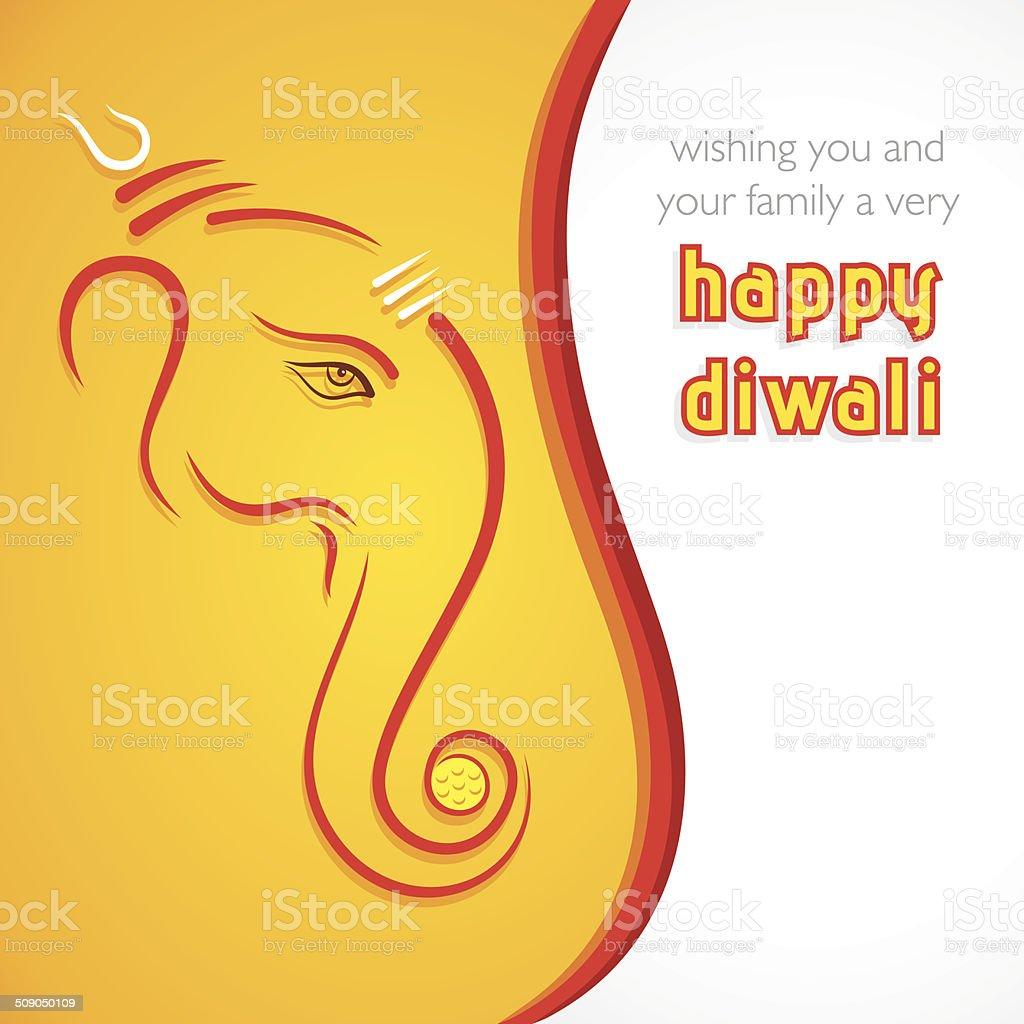creative happy Diwali greeting card background