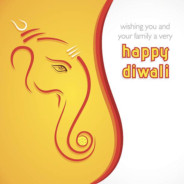 kreative happy diwali grußkarte hintergrund - ganesh stock-grafiken, -clipart, -cartoons und -symbole